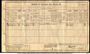 1911 Census Page