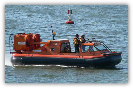 RNLI Hovercraft at Poole Harbour