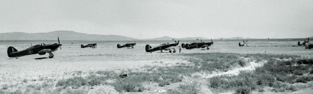 Hurricanes of 80 Squadron in Palestine, June 1941 as flown by Roald Dah