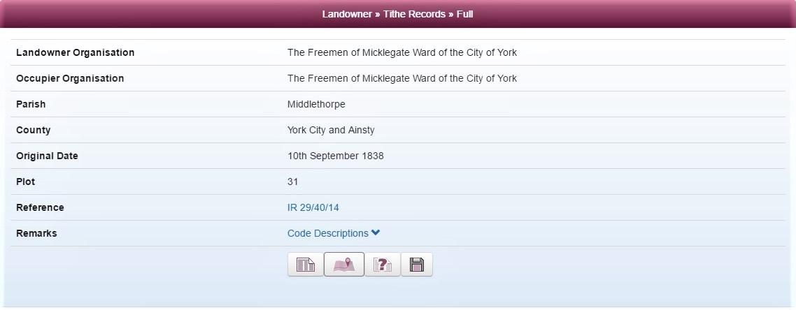 Tithe records on TheGenealogist