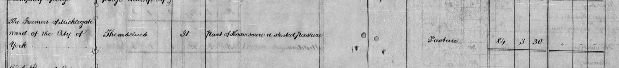 Apportionment book for Middlethorpe 1838 on TheGenealogist