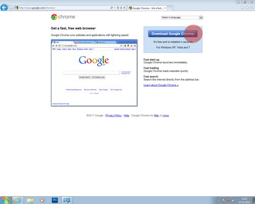 Installing Google Chrome | UK Census Online